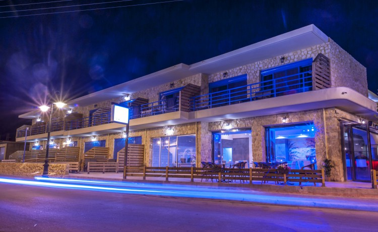 Haven Beach hotel building night