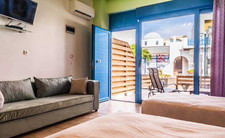 Ground suite double room window