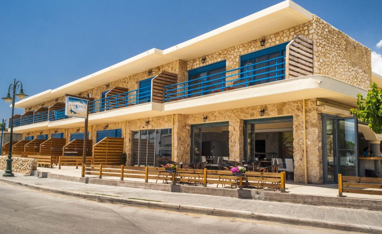 The front view of Haven Beach hotel