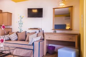 Sea view suite sofa and desk